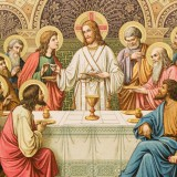 Иисус Христос с учениками